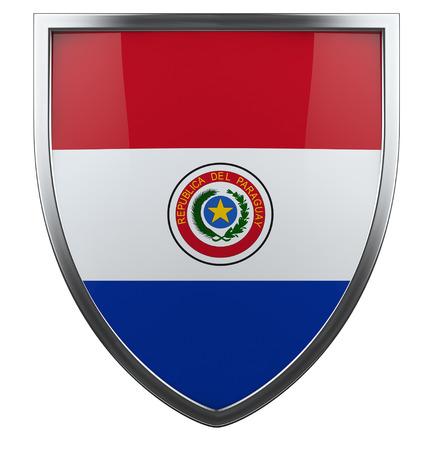 bandera de paraguay: Bandera de Paraguay aislado icono de escudo.