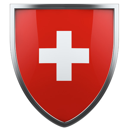 Swiss national flag design element. photo