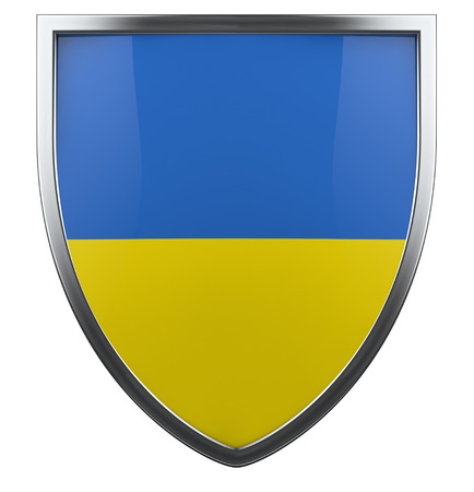 Ukraine flag shield isolated icon. photo