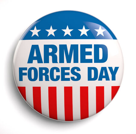 armed: Armed Forces Day USA design symbol. Stock Photo