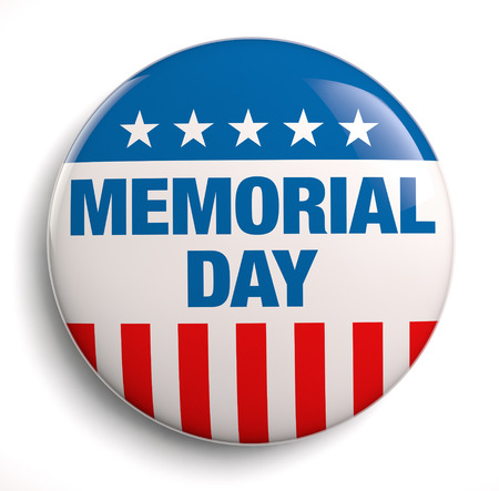 Memorial Day tekst design icoon.