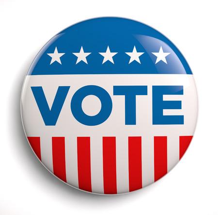Vote election campaign badge button.