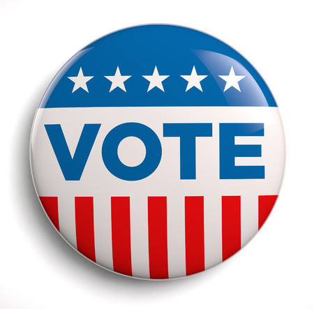 president of usa: Vote election campaign badge button.