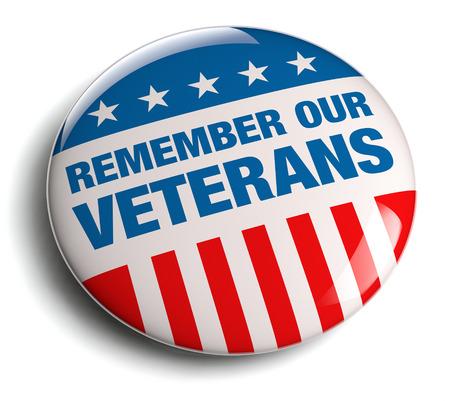 recordar: Día de los Veteranos  insignia del Día de los Caídos. Foto de archivo