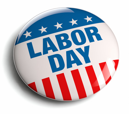 Labor Day USA patriotic icon. Stock Photo