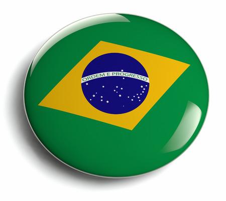Brazil flag design badge isolated  photo