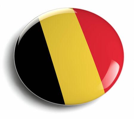 belgique: Beligium flag round badge isolated