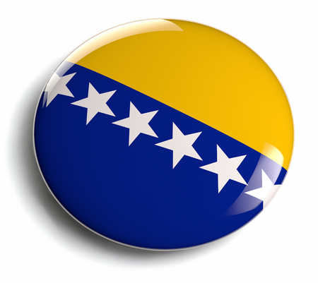 bosna: Bosnia and Herzegovina flag design badge  Stock Photo