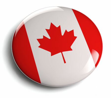 Canada flag icon  Clipping path included  photo