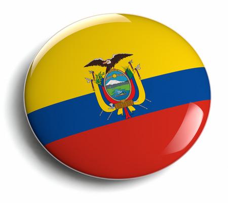 ecuadorian: Ecuador flag design round badge.