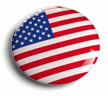 USA flag design icon. Clipping path included.