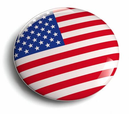 USA vlag design icoon. Het knippen inbegrepen weg.