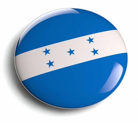 bandera honduras: Honduras diseño de la bandera insignia ronda.