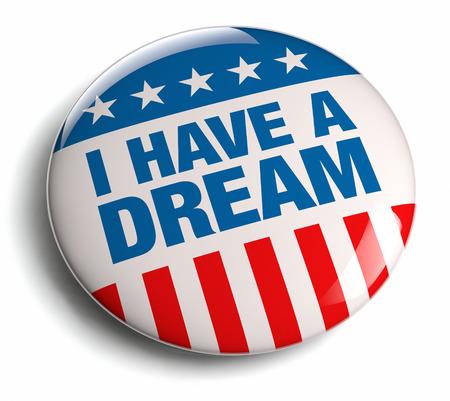 I have a dream quote badge. Standard-Bild