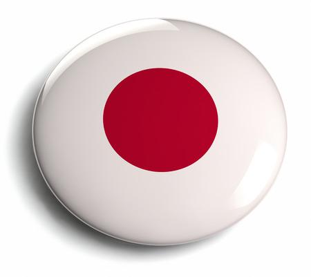 push button: Japan flag design round badge
