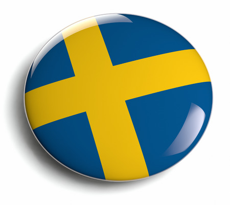 sweden flag: Sweden flag design element icon  Stock Photo