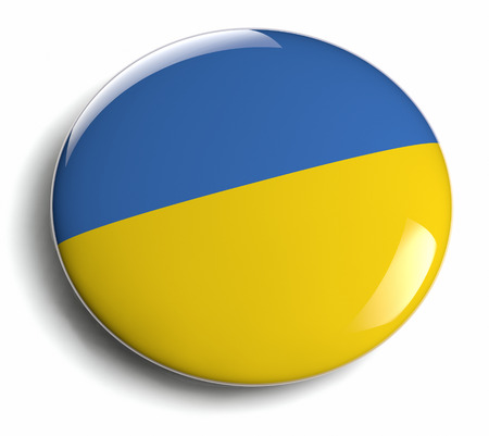 Ukraine flag icon  Clipping path included  photo