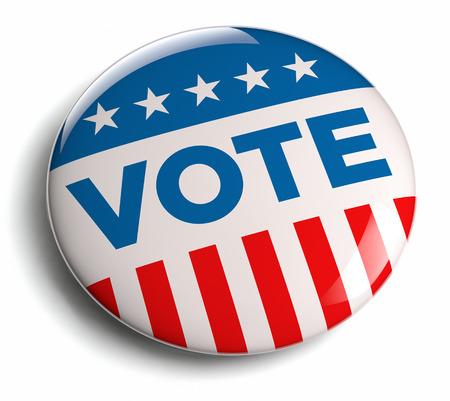 Vote election campaign badge button