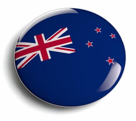 New Zealand flag round badge.