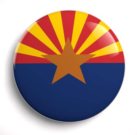 Arizona state flag isolated icon.