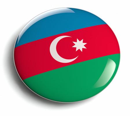 Azerbaijan flag design round badge.