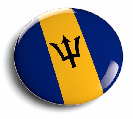 barbadian: Barbados flag design round badge.