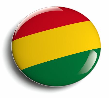 bandera de bolivia: Dise�o de la bandera Bolivia divisa redonda.