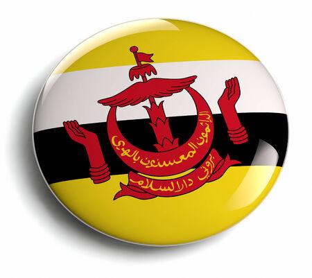Brunei flag design round badge. Stock Photo