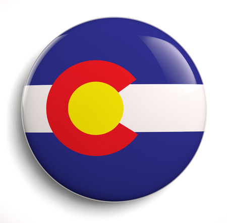 Colorado state flag isolated icon.