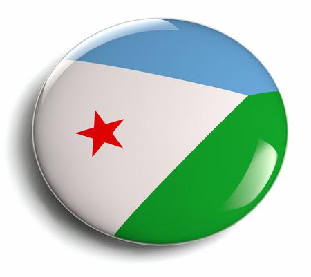 djibouti: Djibouti flag design round badge  Stock Photo