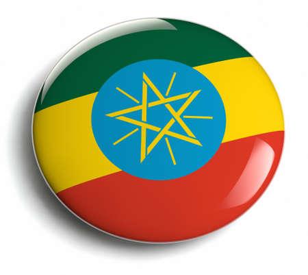 ethiopia flag: Ethiopia flag design round badge.