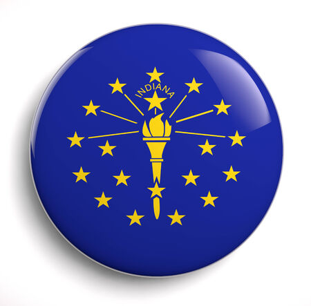 Indiana state flag isolated design.