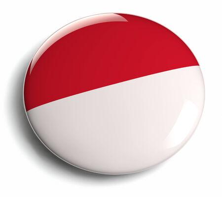 Indonesia flag design round badge.