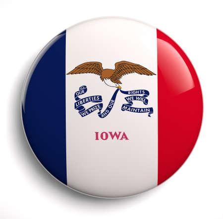 Iowa state flag isolated icon.