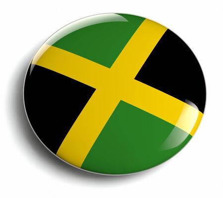 Jamaica flag design round badge.