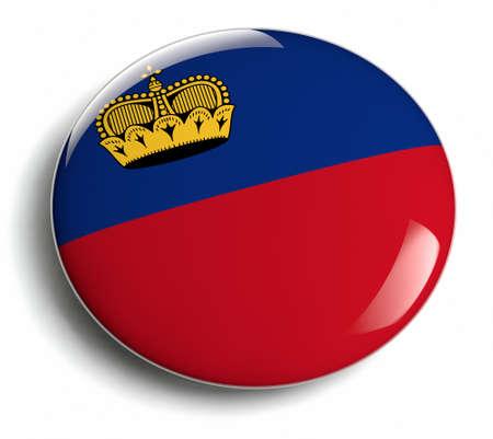 Lichtenstein flag design round badge. Stock Photo