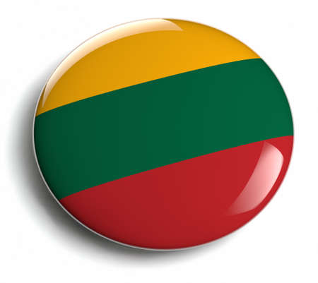 lithuanian: Lithuania flag design round badge. Stock Photo