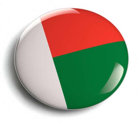 Madagascar flag round badge design. Stock Photo
