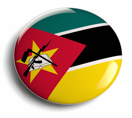 Mozambique flag design round badge.
