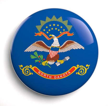 North Dakota flag isolated icon.
