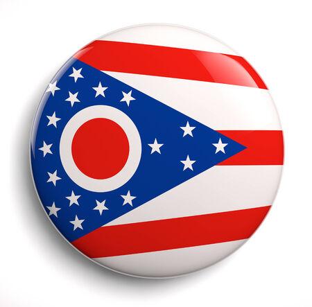 Ohio state flag isolated icon.
