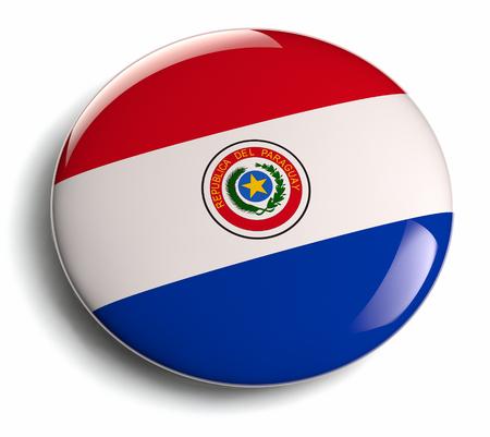 bandera de paraguay: Dise�o de la bandera Paraguay divisa redonda.