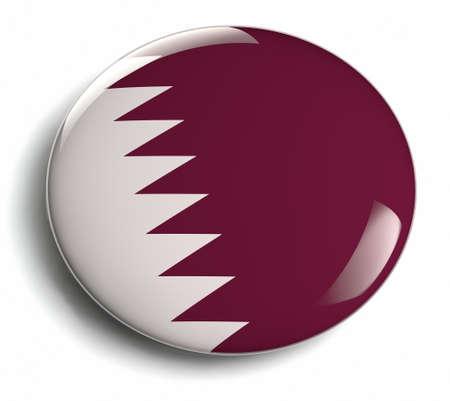 Qatar flag design round badge. Stock Photo