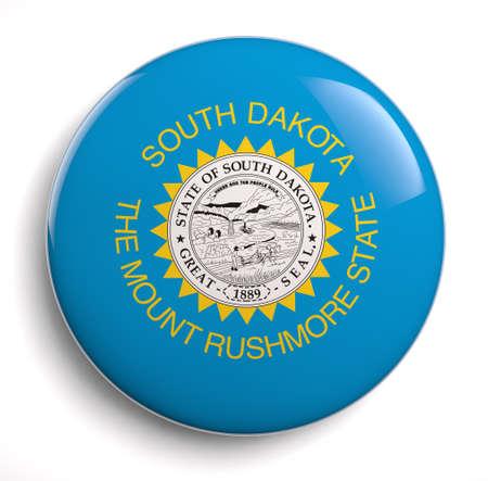 south dakota: South Dakota bandiera di stato isolato. Archivio Fotografico