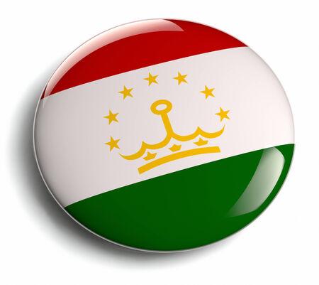 Tajikistan flag design round badge. Stock Photo
