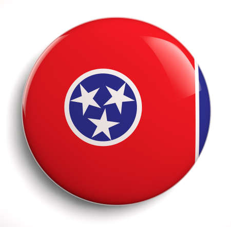 Tennessee state flag isolated icon