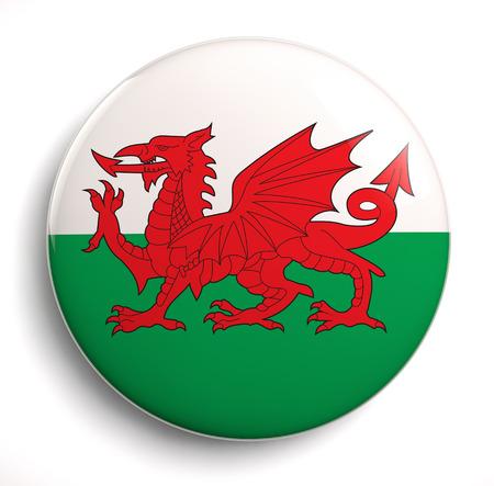 welsh flag: Archivio di immagini Galles bandiera isolato.