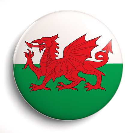 Wales flag isolated stock image.