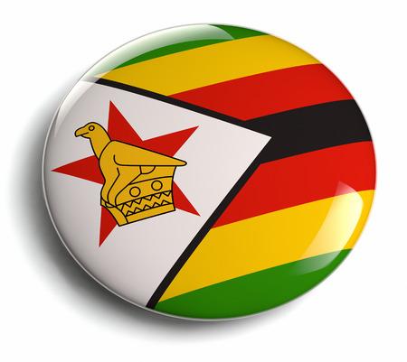 Zimbabwe flag design round badge  photo