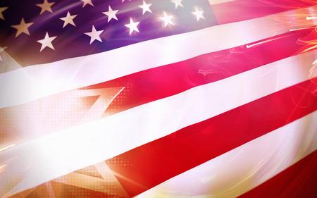 アメリカ星条旗旗愛国的な背景 写真素材